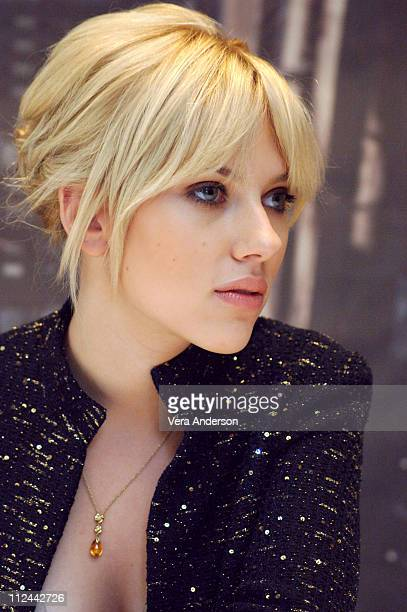 """Scarlett Johansson during """"The Island"""" Press Conference with Scarlett Johansson and Michael Bay at Regency Hotel in New York City, New York, United..."""