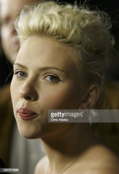 Scarlett Johansson during 'The Perfect Score' Los Angeles Premiere at Cinerama Dome in Hollywood California United States