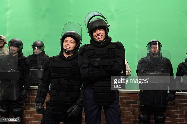 LIVE Scarlett Johansson Episode 1681 Pictured Beck Bennett and Pete Davidson during the Orioles skit on May 2 2015