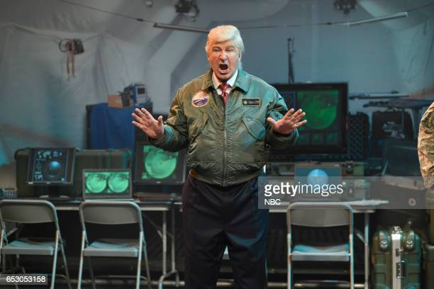 LIVE Scarlett Johansson Episode 1720 Pictured Alec Baldwin as President Donald Trump during the Alien Attack Cold Open on March 11 2017