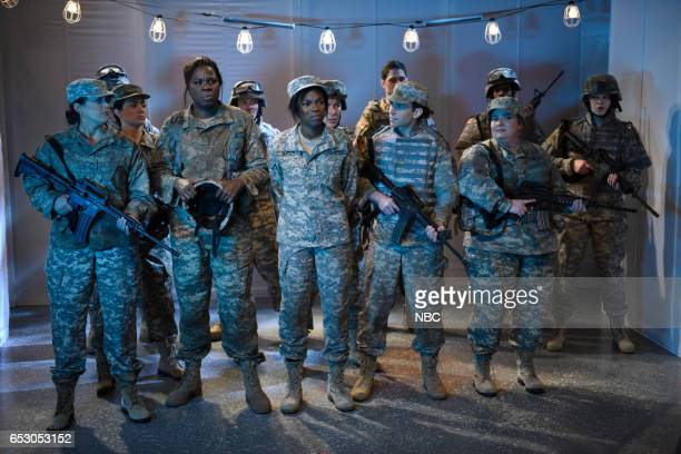 LIVE 'Scarlett Johansson' Episode 1720 Pictured Cecily Strong Melissa Villaseñor Leslie Jones Sasheer Zamata Kyle Mooney and Aidy Bryant during the...