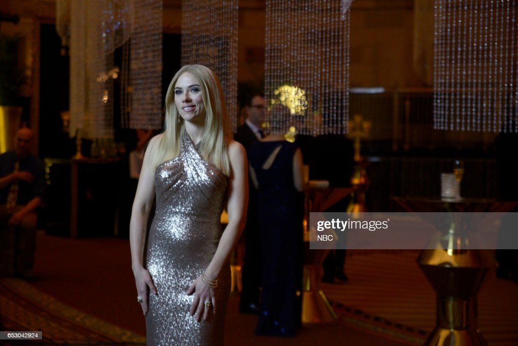 LIVE -- 'Scarlett Johansson' Episode 1720 -- Pictured: Scarlett Johansson as Ivanka Trump during the 'Perfume Commercial' sketch on March 11, 2017 --