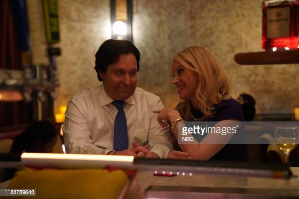 LIVE Scarlett Johansson Episode 1776 Pictured Beck Bennett as George Conway and Kate McKinnon as Kellyanne Conway during the Marriage Counseling...