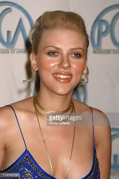 Scarlett Johansson in the press room at the 15th Annual Producers Guild Awards at the Century Plaza Hotel in Century City Ca 01/17/03