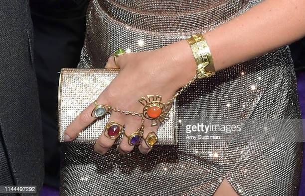 Scarlett Johansson jewelry detail attends the world premiere of Walt Disney Studios Motion Pictures Avengers Endgame at the Los Angeles Convention...