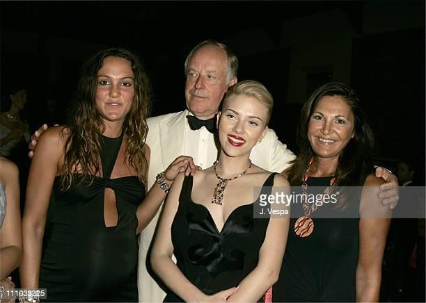Scarlett Johansson Nicola Bulgari and Beatrice Bulgari at the amfAR's Cinema Against AIDS Venice presented By BVLGARI
