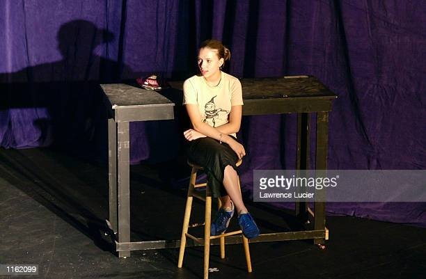 Scarlett Johansson performs in the 24 Hour Plays September 24 2001 in New York City to benefit the nonprofit arts education organization Working...