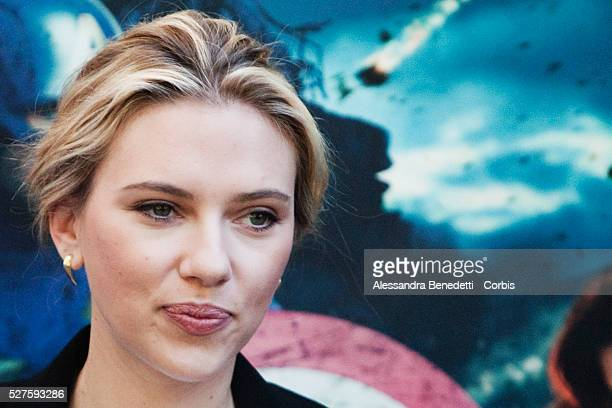 Scarlett Johansson poses during the photocall of the film 'The Avengers' on April 21 2012 in Rome Italy