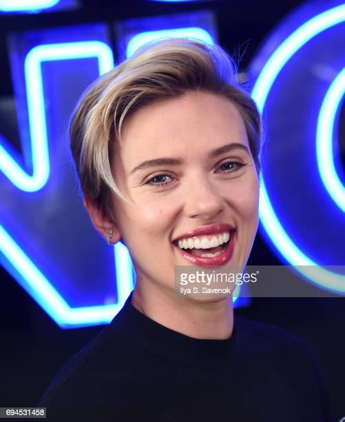 Scarlett Johansson poses during the 'Rough Night' Photo Call at Crosby Street Hotel on June 10 2017 in New York City