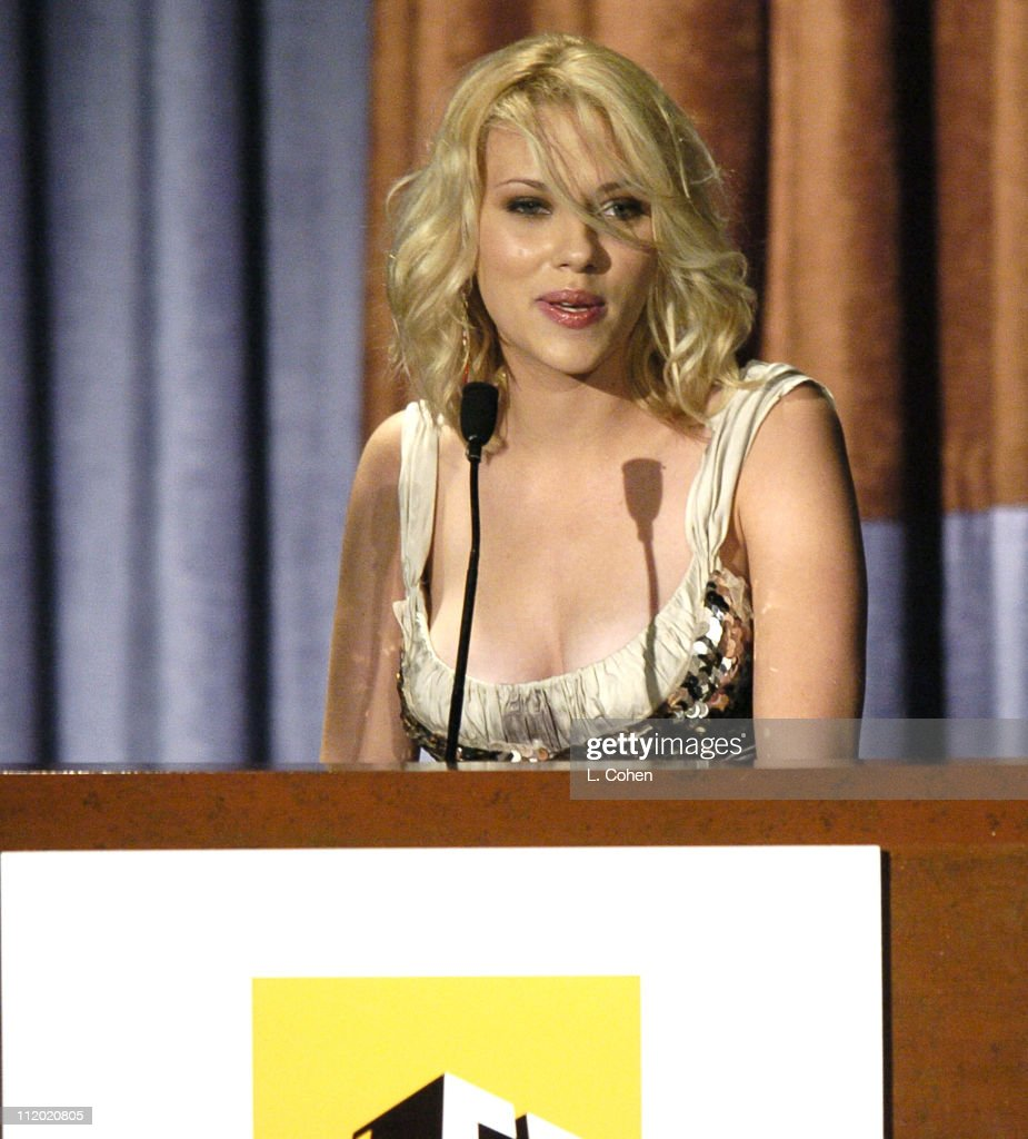 Scarlett Johansson presenting the Lifetime Achievement Award