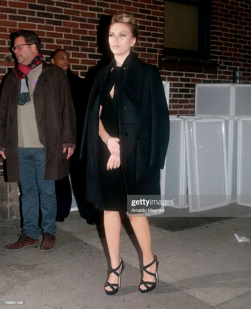 Scarlett Johansson sighting on November 21, 2012 in New York City.