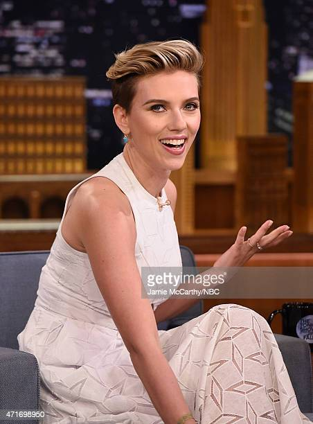 Scarlett Johansson visits 'The Tonight Show Starring Jimmy Fallon' at Rockefeller Center on April 30 2015 in New York City