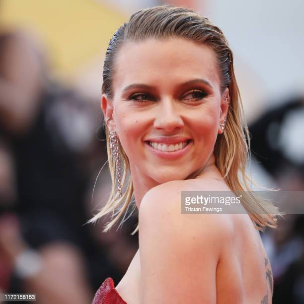 Scarlett Johansson walks the red carpet ahead of the Marriage Story screening during the 76th Venice Film Festival at Sala Grande on August 29 2019...