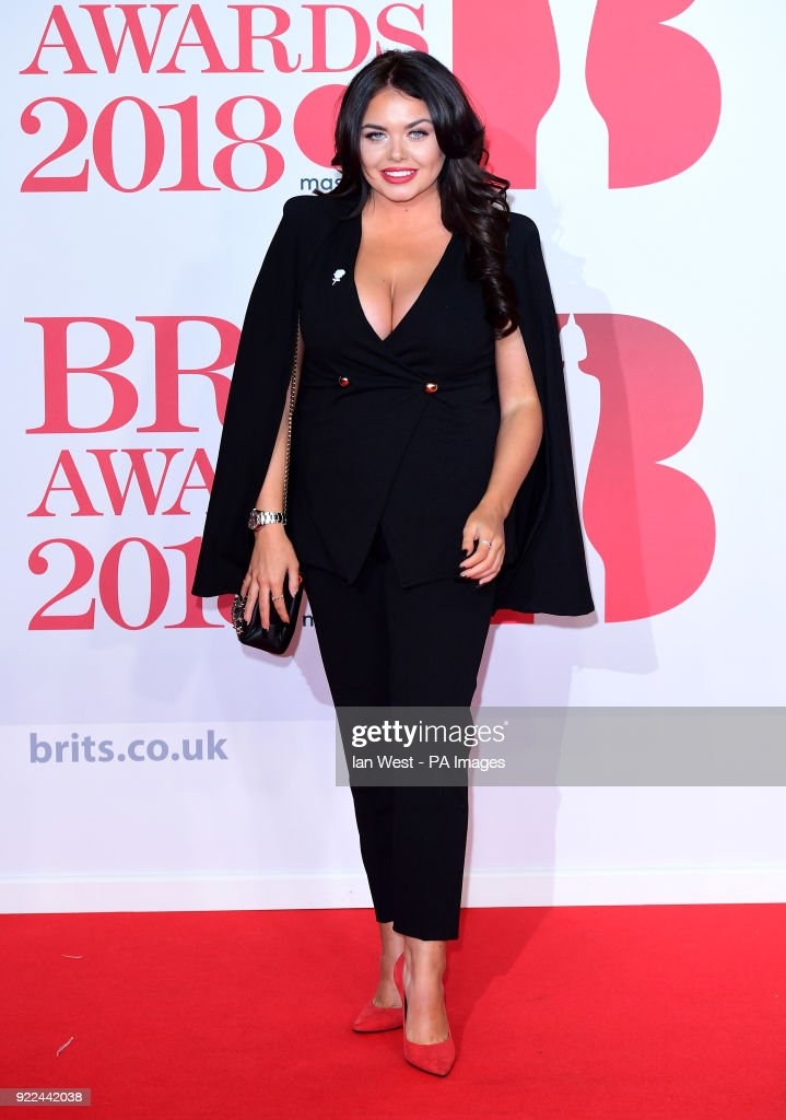 Scarlett Moffatt attending the Brit Awards at the O2 Arena, London