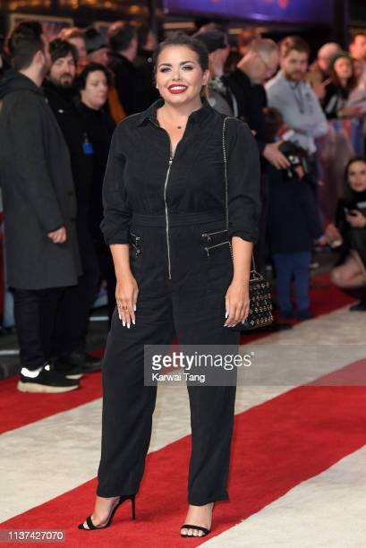 Scarlett Moffatt attends the European premiere of 'Dumbo' at The Curzon Mayfair on March 21 2019 in London England