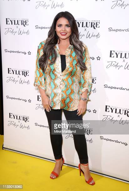 Scarlett Moffatt attends the Eylure x Jordyn Woods launch party at Jin Bow Law Dorsett City Hotel on March 26 2019 in London England