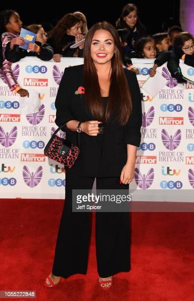 Scarlett Moffatt attends the Pride of Britain Awards 2018 at The Grosvenor House Hotel on October 29 2018 in London England