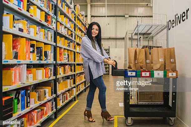 Scarlett Moffatt of Gogglebox visits the Amazon Newcastle Distribution centre before she heads to her sister's school to surprise some children to...