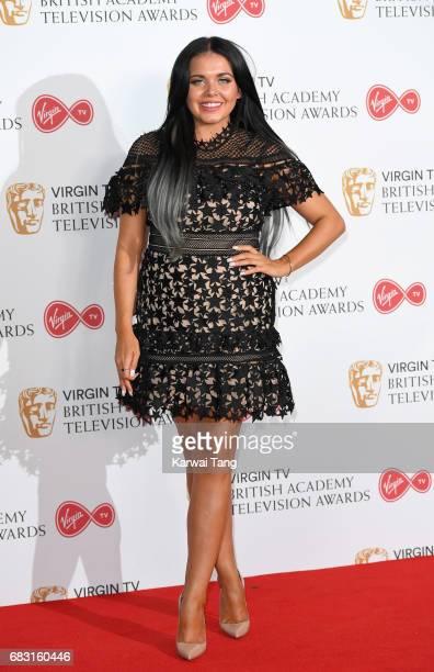 Scarlett Moffatt poses in the Winner's room at the Virgin TV BAFTA Television Awards at The Royal Festival Hall on May 14 2017 in London England