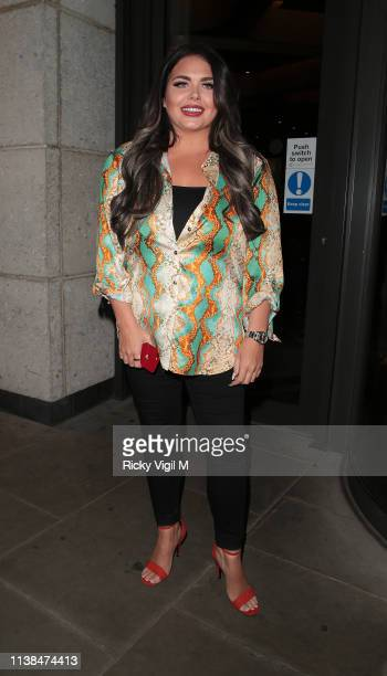 Scarlett Moffatt seen attending the Eylure x Jordyn Woods launch party at Jin Bow Law Dorsett City Hotel on March 26 2019 in London England