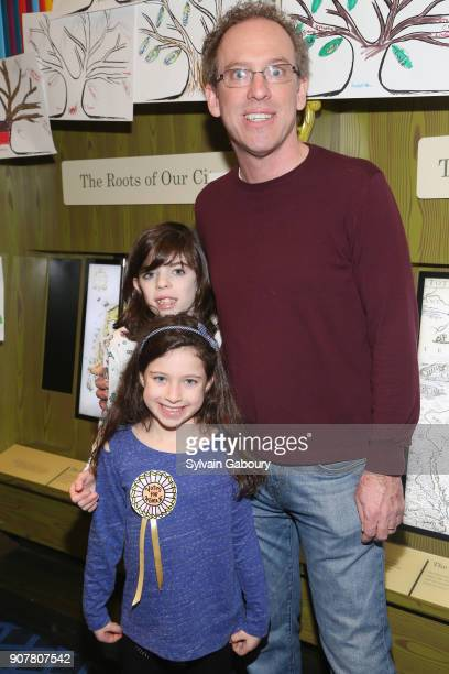 Scarlett Neubauer Piper Neubauer and Larry Neubauer attend DiMenna Children's History Museum Family Benefit Party 2018 on January 20 2018 in New York...