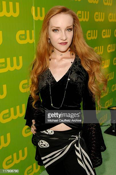 Scarlett Pomers during The CW Launch Party Green Carpet at WB Main Lot in Burbank California United States