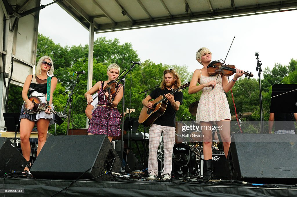 Scarlett Rische, Lillie Mae Rische, Frank Rische and Amber Dawn Rische of Jypsi performs at the 2010 Puddle-Palooza festival at Yogi Bear Jellystone Park on August 21, 2010 in Nashville, Tennessee.