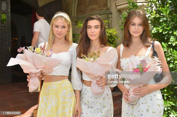 Scarlett Rose Leithold Charlotte D'Alessio and Kaia Gerber join Talita von Furstenberg in celebrating her first collection for DVF at Chateau...