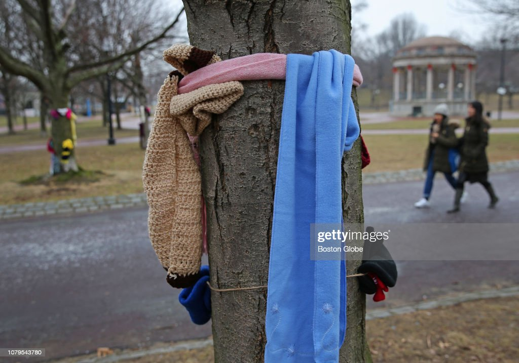 Warm Winter Clothing Left For Those In Need At Boston Common : News Photo