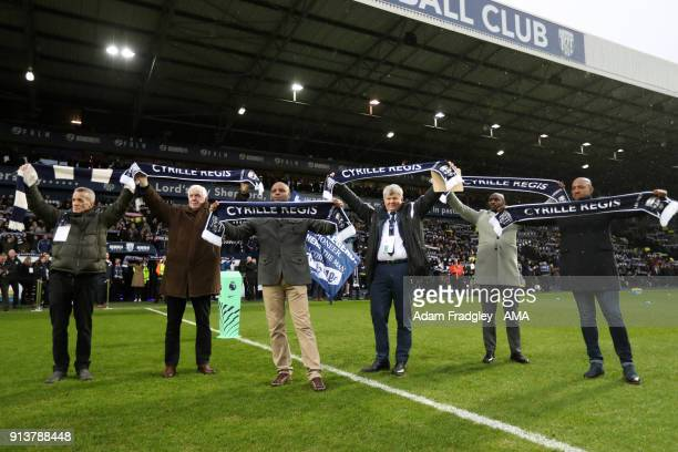 Scarves in the air for Cyrille Regis Tribute during the Premier League match between West Bromwich Albion and Southampton at The Hawthorns on...