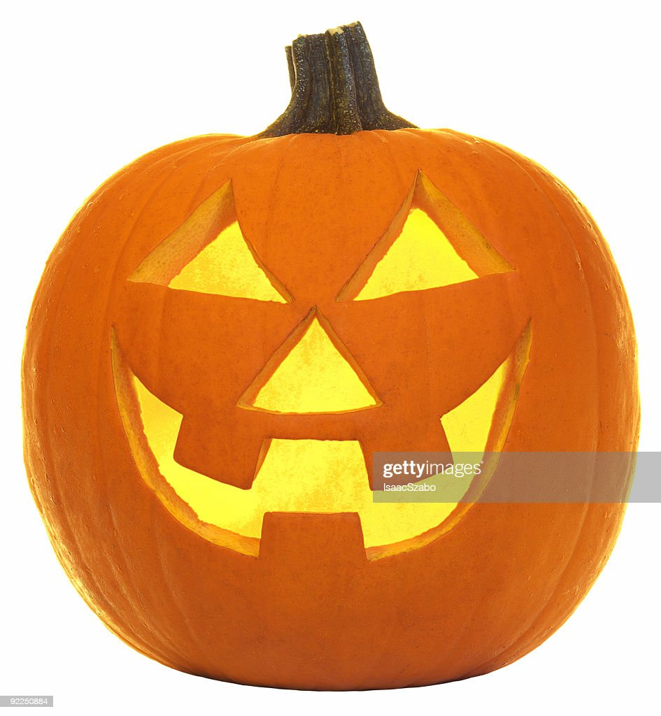 scary carved halloween pumpkin face stock photo | getty images