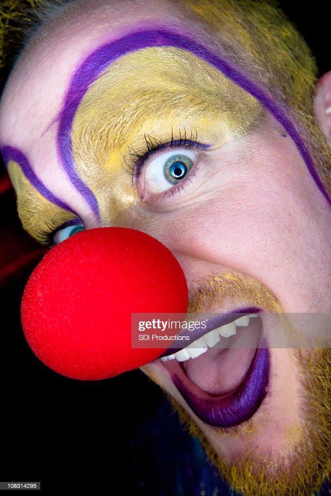 Scary Clown Closeup : Stock Photo