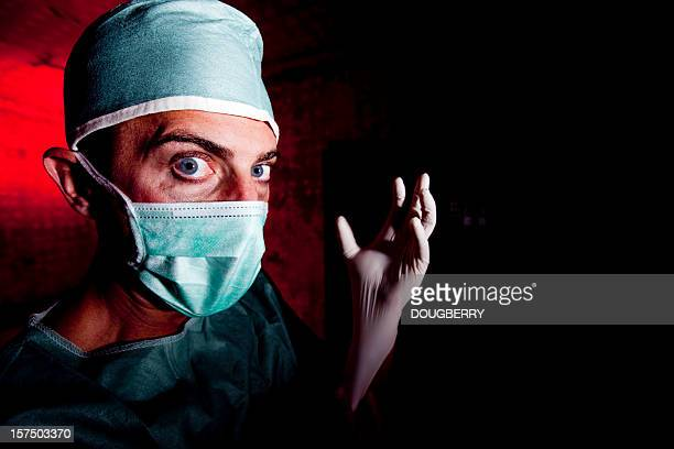 scary doctor - evil stock photos and pictures