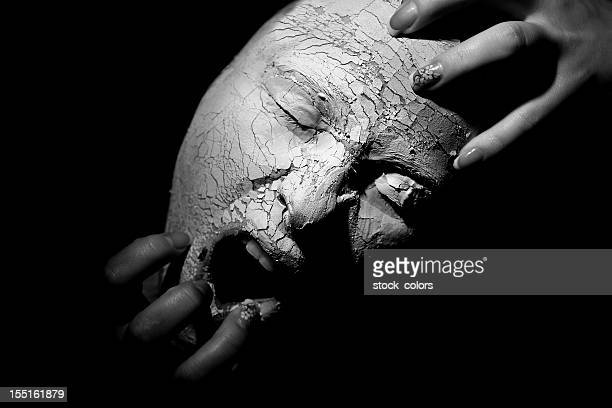 scary face - dry mouth stock photos and pictures