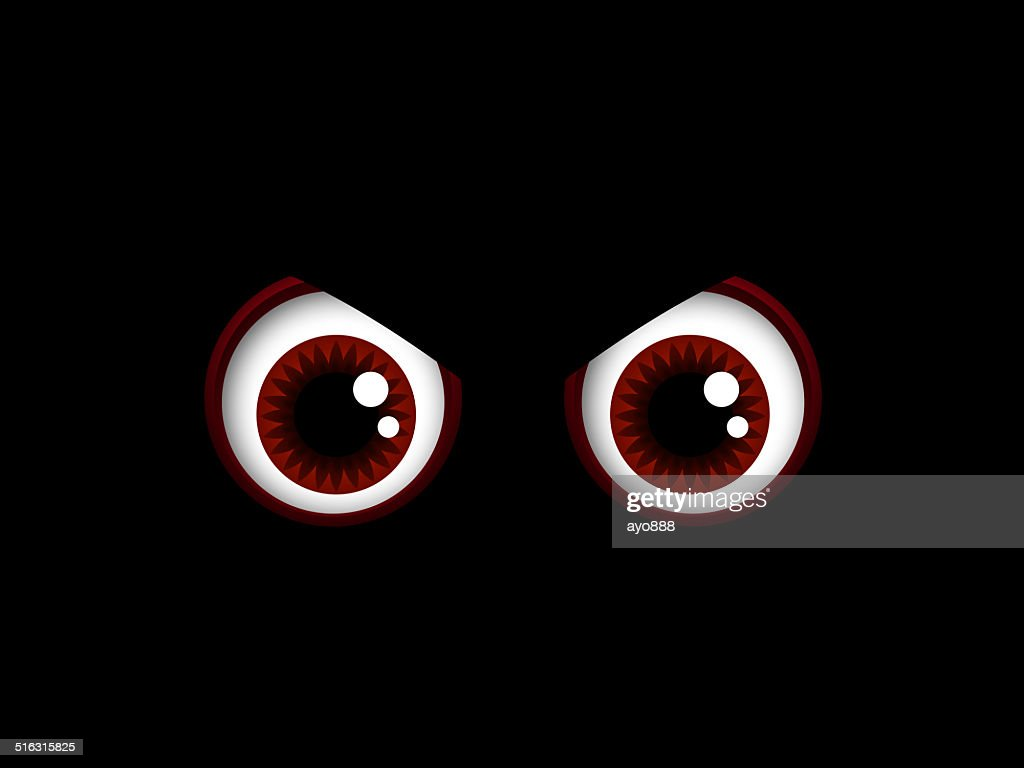 scary halloween red eyes isolated over black stock photo | getty images