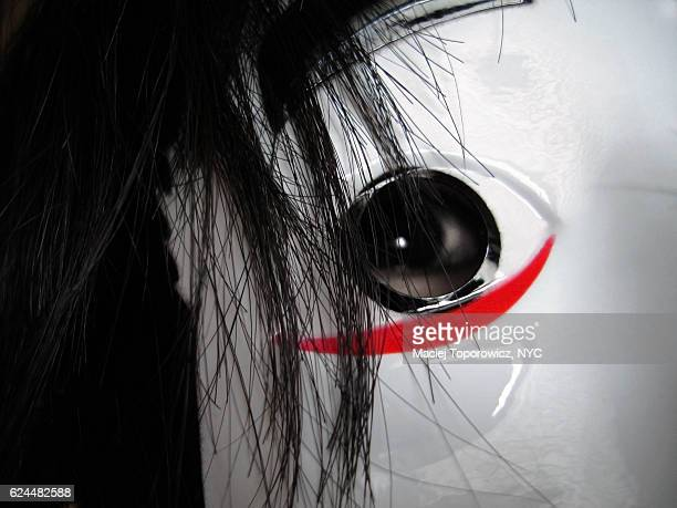 scary looking close up of a person in a mask. - flasher stock pictures, royalty-free photos & images