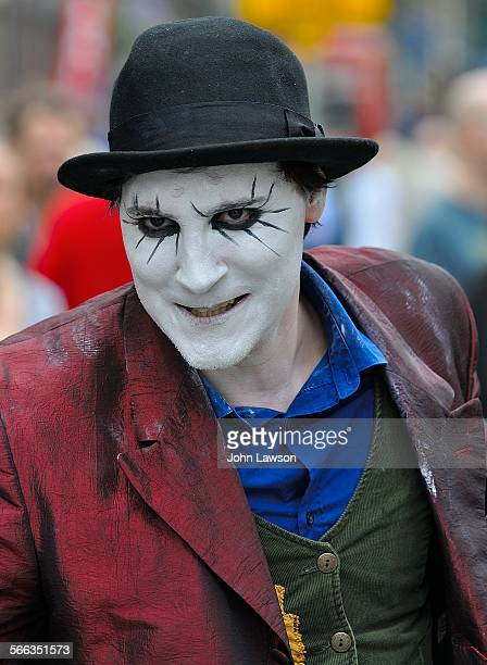 Scary looking clown at the Edinburgh Festival Fringe