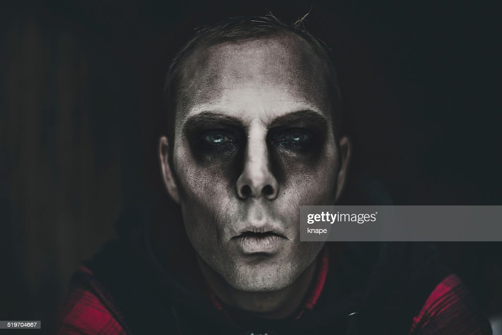 Halloween Make Up Men.Scary Man In Halloween Makeup Stock Photo Getty Images
