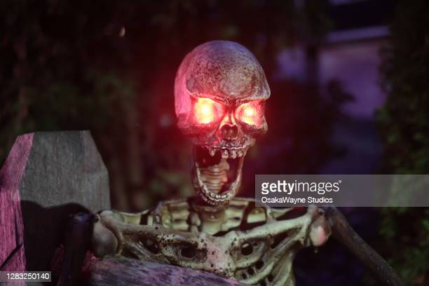 scary skeleton - mamaroneck stock pictures, royalty-free photos & images