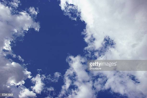 Scatter clouds in bright sky
