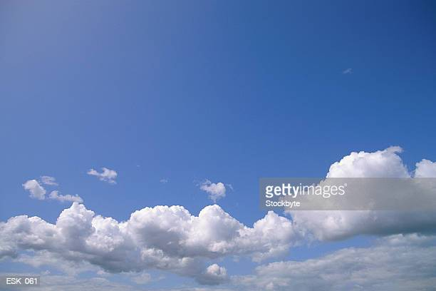 Scattered clouds in bright sky
