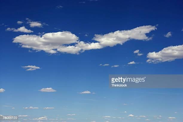 scattered clouds - thinkstock stock-fotos und bilder