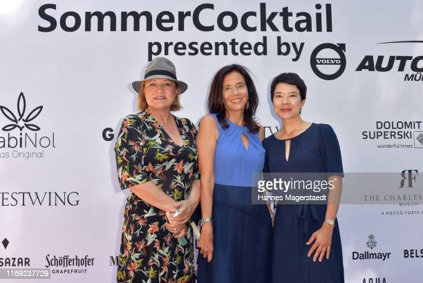 Scenario team Inga Pudenz Karin Brandner and Astride Bergauer at the Scenario SommerCocktail 2019 during the Munich Film Festival at The Charles...