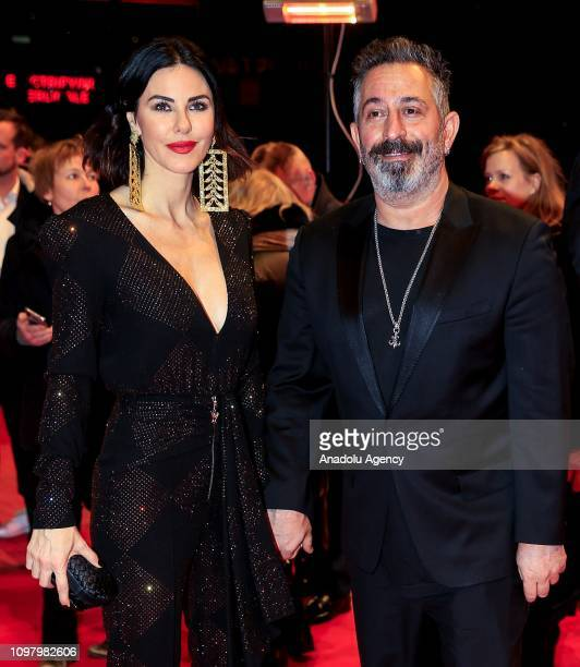 "Scenarist and director Cem Yilmaz and Defne Samyeli attend the ""A Tale of Three Sister"" premiere during 69th Berlinale International Film Festival in..."