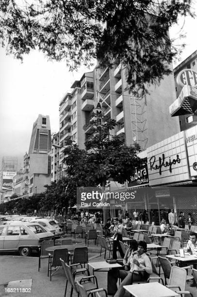 Scene at an outdoor cafe Caracas Venezuela 1970s