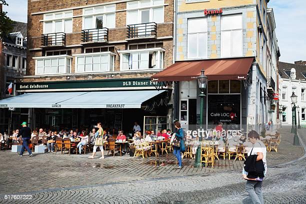 Scene at area of Markt in Maastricht