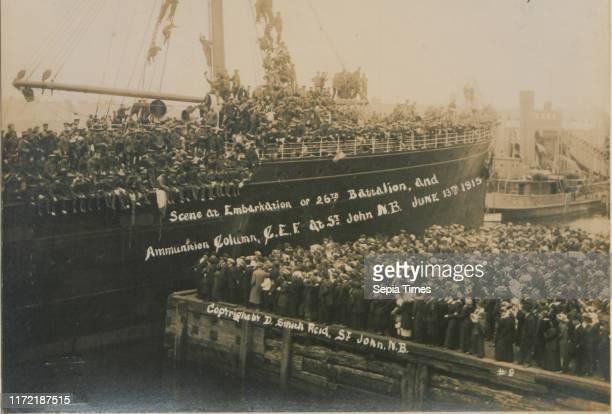 Scene at embarkation of 26th Battalion and ammunition column CEF St John New Brunswick June 13 1915 No 9 13 June 1915