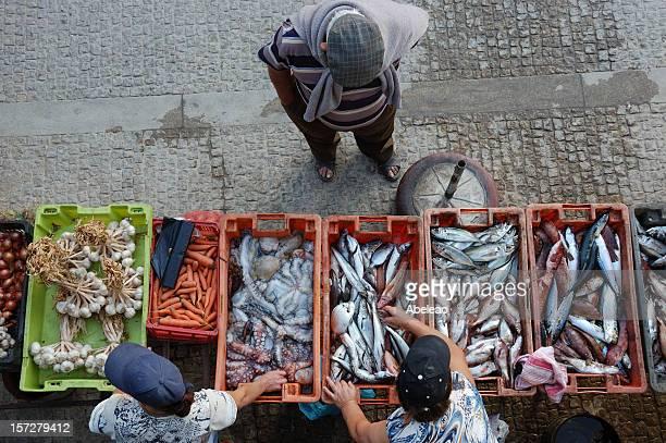 Scene at portuguese fish market