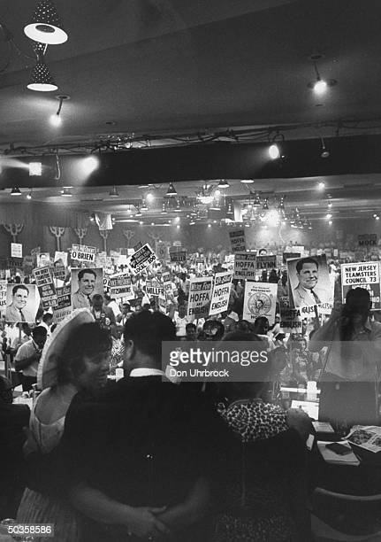 Scene at Teamsters Convention.