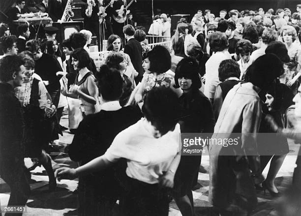 A scene at the Mod's Ball staged by the television show 'Ready Steady Go' at Wembley London
